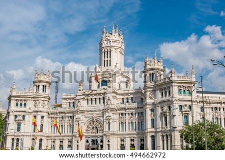 Cibeles Palace In Madrid, Spain