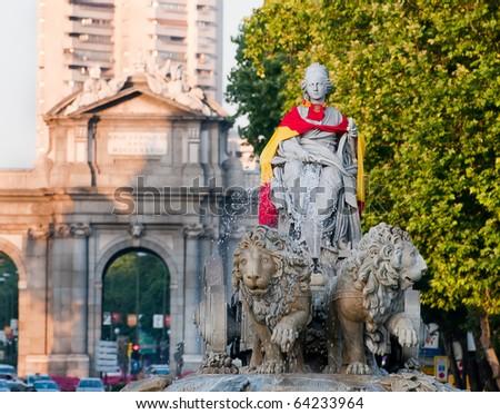 Cibeles Square, Madrid - stock photo