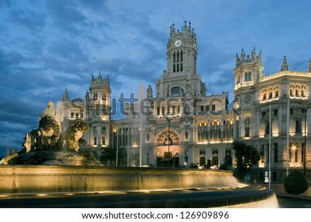 Cibeles square, Madrid, Spain - stock photo
