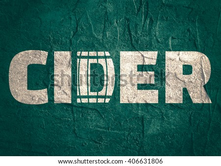 Cider logo design. Typography concept for vineyard. Abstract winery sign.