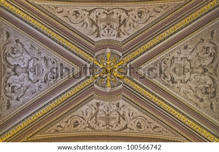 Cieling representing the Vatican flag