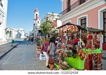 CIENFUEGOS CUBA JAN 1 2017 Craft Stock Photo (Royalty Free