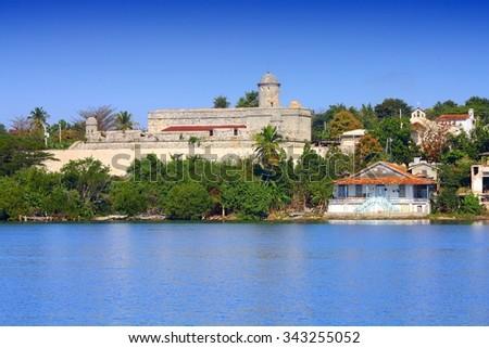 Cienfuegos, Cuba - old El Jagua coastal fortress - stock photo