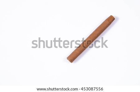 cigar isolated on a white background - stock photo