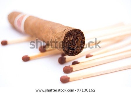 Cigar with matches