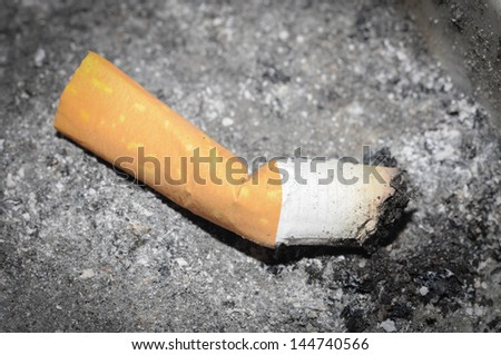 cigarette ashtray - stock photo