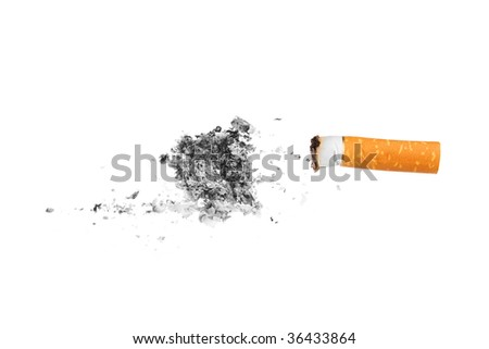 Cigarette butt - stock photo