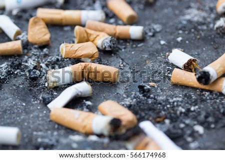 Smoking Cigarette Butts