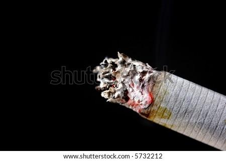 cigarette glow 1 - stock photo