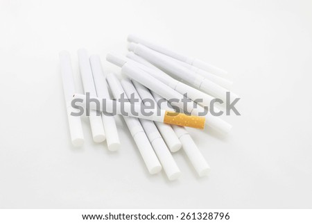 Cigarette isolated on a white background - stock photo