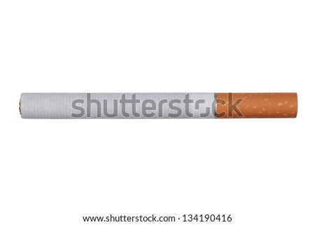 Cigarette isolated on a white background with copy space - stock photo