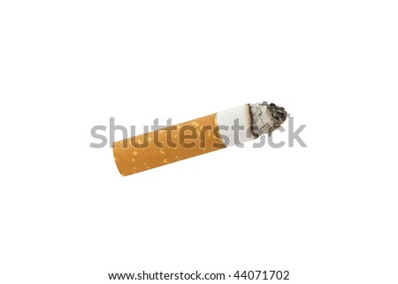 Cigarette isolated on pure white background - stock photo