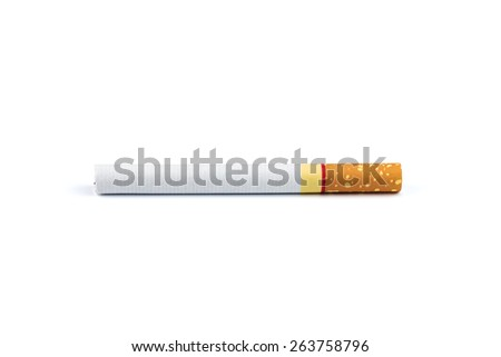 Cigarette isolated on white background - stock photo