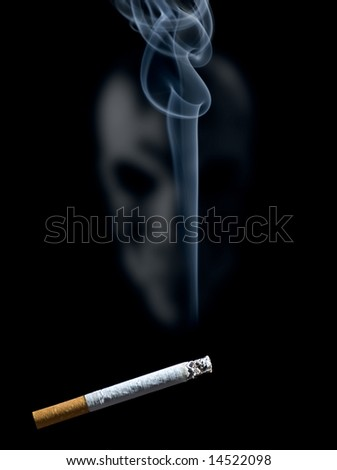Cigarette on a black background - stock photo