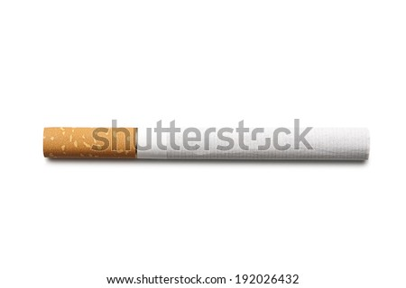cigarette on a white background