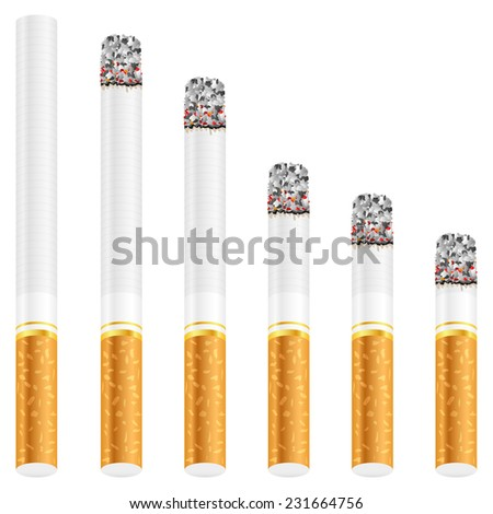 cigarette set illustration.