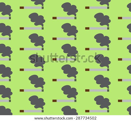 Cigarette smoking is used as a pattern and background  - stock photo