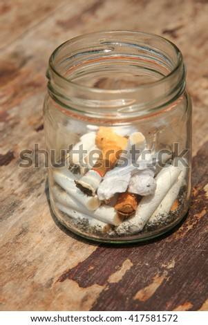 cigarette stub no.2 - stock photo