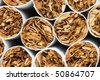 cigarettes background. Close up - stock photo