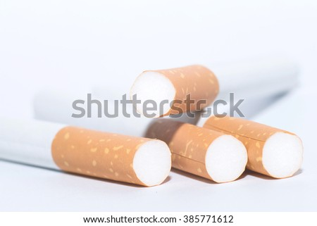 Cigarettes Close-up of Tobacco Cigarettes Background or texture - stock photo