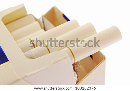 Cigarettes isolated on a white background - stock photo
