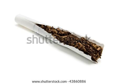 cigarettes isolated on white background - stock photo