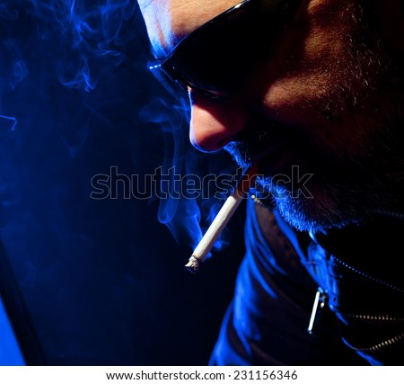 Cigarettes, smoke in various shades