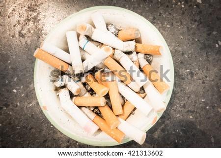 Cigarettes stub - stock photo