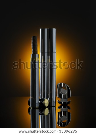 cigars on mirroring surface - stock photo