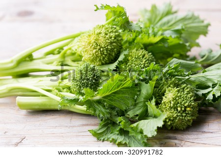 Cime di rapa (Brassica rapa) - stock photo