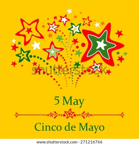 Cinco de Mayo posters backgrounds. Fiesta flyer. Mexican holiday festival. illustration - stock photo