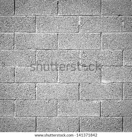 cinder block wall background, brick texture - stock photo