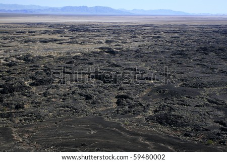 cinder cone lava flow - stock photo