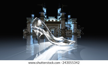 Cinderella castle - stock photo