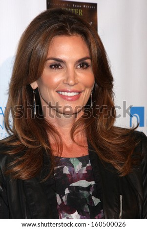 "Cindy Crawford at the ""Enter Miss Thang"" Book Launch Party, Cafe Habana, Malibu, CA 10-21-13 - stock photo"