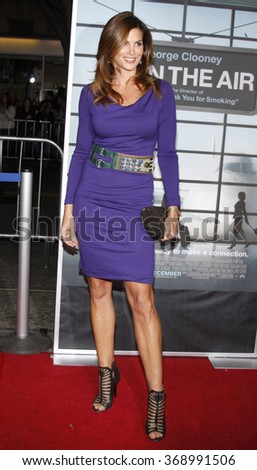 """Cindy Crawford at the Los Angeles Premiere of """"Up In The Air"""" held at the Mann Village Theater in Westwood, California, United States on November 30, 2009.  - stock photo"""