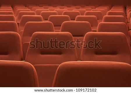 cinema and red seats rows