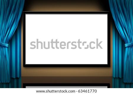 Cinema Display Stage Movies Opening Night Stock Illustration ...