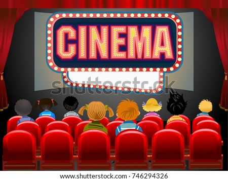Cinema Hall Stock Vector 440811322 Shutterstock