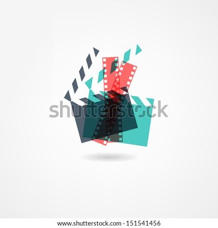 cinema icon - stock photo