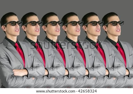 Cinema in new 3D glasses with boy spectator watching movie on cinema - stock photo