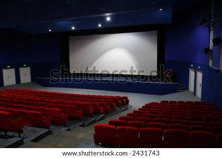 cinema interior 2 - stock photo