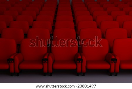 Cinema's seats