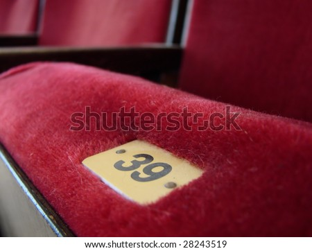 cinema seat movie theater seat - stock photo
