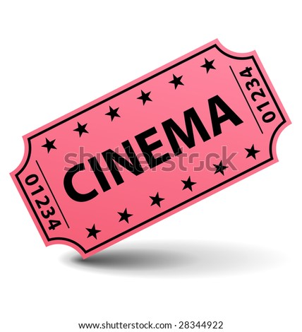 Cinema ticket illustration - stock photo