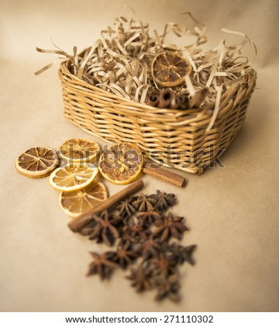 cinnamon and anise - stock photo