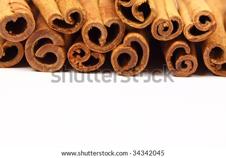 Cinnamon bark isolated on a white background