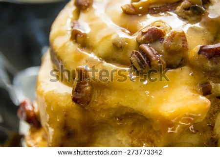 Cinnamon buns close up - stock photo