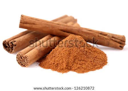 Cinnamon in closeup - stock photo
