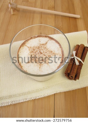 Cinnamon milk - stock photo